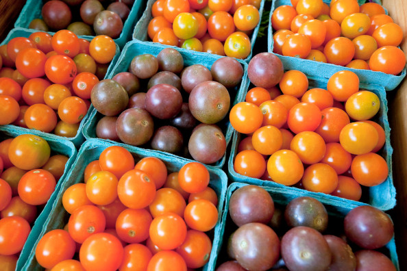 heirloom cherry tomatoes grown by Ray Bradley on his farm near N