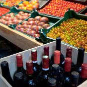 Wines selected by Kevin Zraly, tomatoes grown by Ray