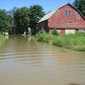 Bradley Farm underwater