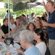 David Bouley at Ray Bradley Farm 2012 dinner with wines selected