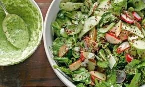 Yotam Ottolenghi's rhubarb, celery and sorrel salad
