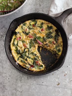 Swiss Chard, Onion & Cheese Frittata from Williams-Sonoma's Taste blog